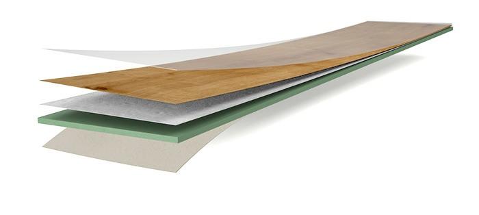 Wineo Bioboden wineo 1500 wood XL zum Kleben zum Kleben Aufbau