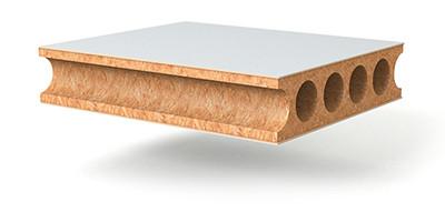 Prüm CPL Innenlage Röhrenspan Mittellage Detailansicht