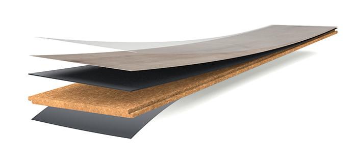 Wicanders Vinyl Hydrocork Aufbau