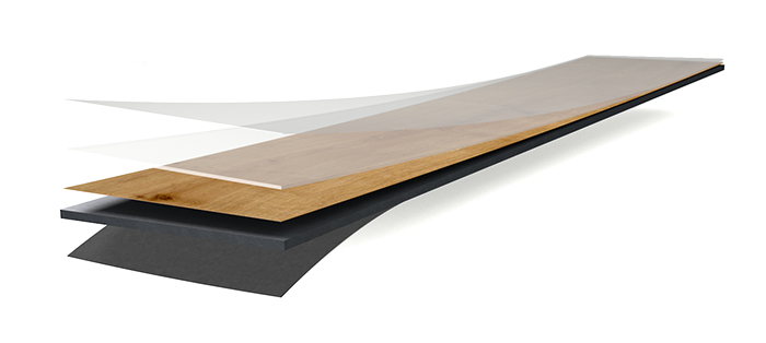 Wineo Vinyl wineo 600 wood XL zum Kleben Aufbau