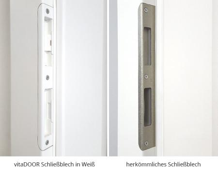 vitaDOOR Basic Schliessblech Exklusiv Weiss Vergleich